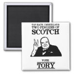 Limited Edition Vote Tory 2 Inch Square Magnet