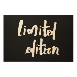 Limited edition wood wall art