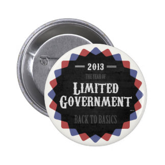 Limited Government 2013 Pinback Buttons