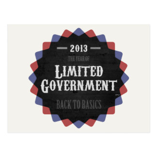 Limited Government 2013 Postcard