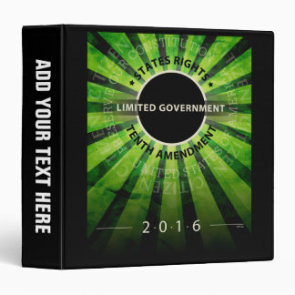 Limited Government 3 Ring Binder