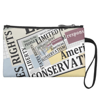 Limited Government Suede Wristlet Wallet