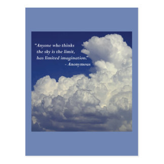 'Limited imagination' quote postcard