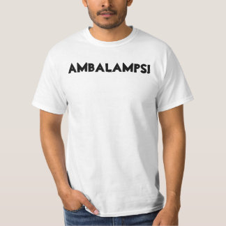 """Limited-Official AMBALAMPS """"White T"""" Shirt"""