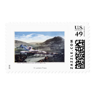 Limited Rail, Horseshoe Curve Stamps