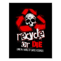 Limited Resources Recycle Black Poster