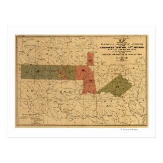 """Límites anteriores de """"nación cherokee"""" de indios postal"""