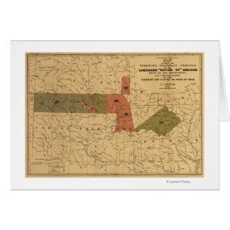 """Límites anteriores de """"nación cherokee"""" de indios tarjeta de felicitación"""