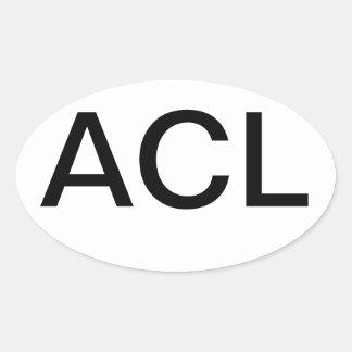 Límites de ciudad de Austin euro Pegatina De Oval Personalizadas