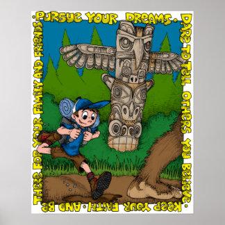 Límites de Tyler que persiguen Bigfoot Póster