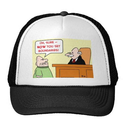 límites determinados del juez gorro