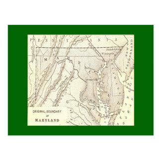 Límites originales de la postal de Maryland