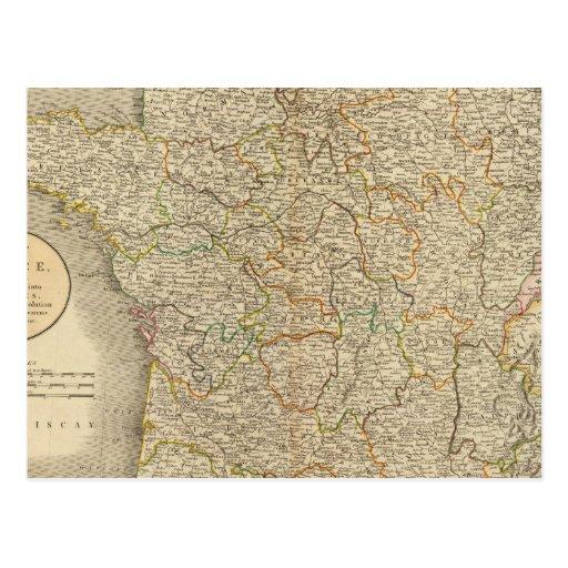 Límites provinciales de Francia Postal