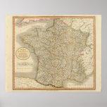 Límites provinciales de Francia Póster