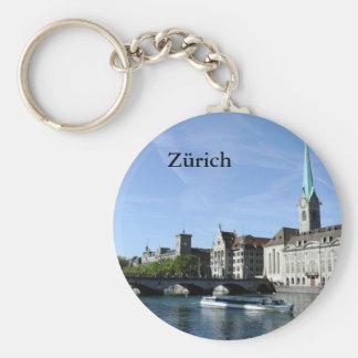 Limmat River in Zürich Keychain