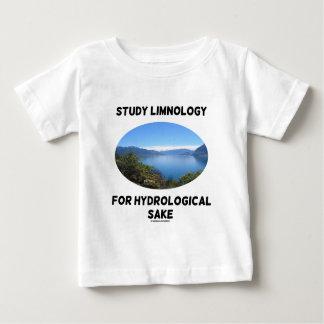 Limnología del estudio para el motivo hidrológico t-shirt