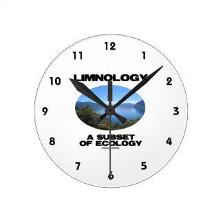 Limnología un subconjunto de ecología reloj redondo mediano
