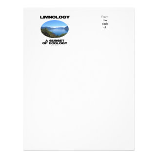 Limnology A Subset Of Ecology (Lake Oceanography) Letterhead
