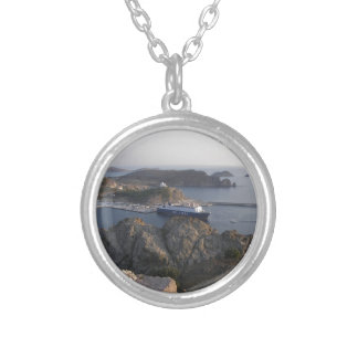 Limnos Ferry From The Hill Silver Plated Necklace