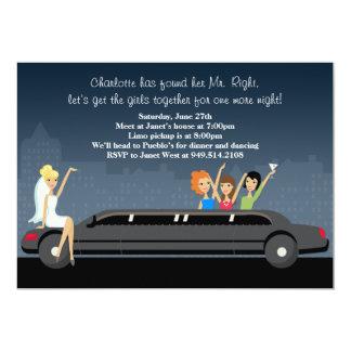 """Limo Bachelorette Party Invitation 5"""" X 7"""" Invitation Card"""