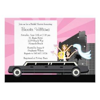 Limo Bridal Shower Invitation
