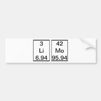 LiMo Chemical Element Bumper Sticker