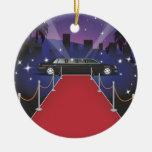 Limo de la celebridad de la alfombra roja ornamento para arbol de navidad
