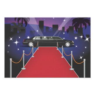 Limo de la celebridad de la alfombra roja comunicado personal