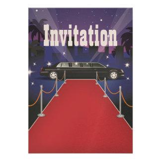 Limo de la celebridad de la alfombra roja invitacion personal