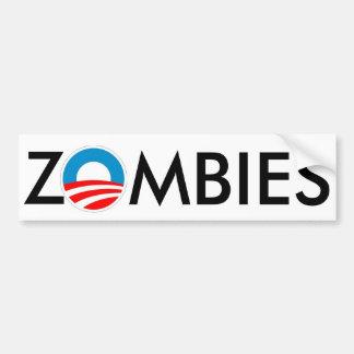 Limo de Obama de los ZOMBIS 4 Pegatina De Parachoque