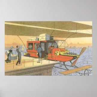 Limo del helicóptero del aeroplano de la ciencia póster