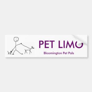LIMO del MASCOTA, Pals del mascota de Bloomington Pegatina Para Auto