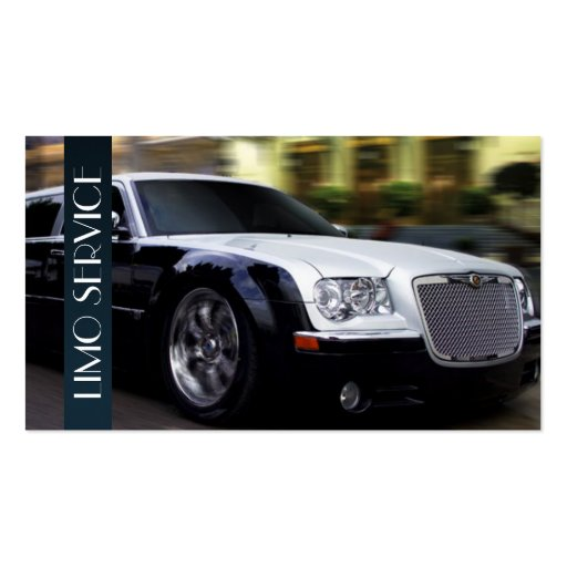 Limo, Limousines Service, Taxi Driver Business Business Card