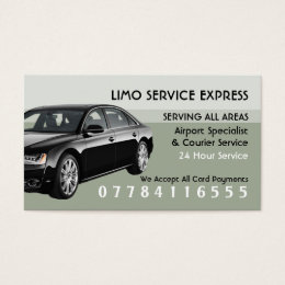 Limo Taxi Service Airport And Station Price List Business Card