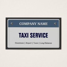 Limo & Taxi Service - Cool Licensed Plate Business Card at Zazzle