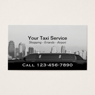 Limo & Taxi Service Modern City Professional Car Business Card