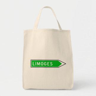 Limoges, Road Sign, France Tote Bag