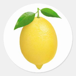 Limón #2 pegatina redonda