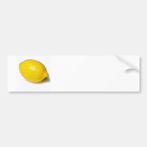 Limón amarillo brillante etiqueta de parachoque