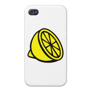 Limón amarillo iPhone 4/4S fundas