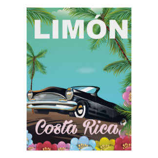 Limón,Costa rican vacation poster