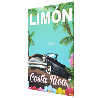 Limón,Costa rican vacation poster Canvas Print