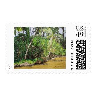 Limon, CostaRica Painting Postage Stamp