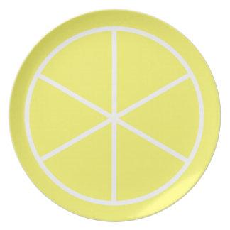 Limón de la Florida de la fruta cítrica del verano Plato