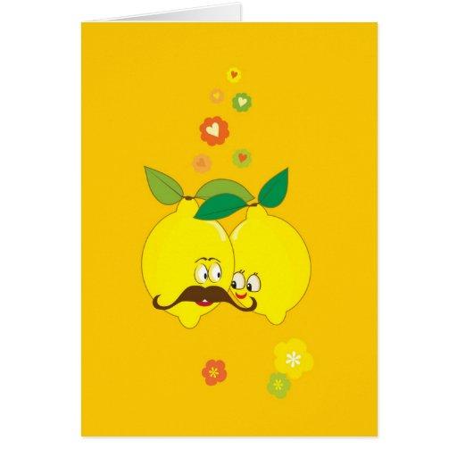 limón del amor, el día de San Valentín feliz Tarjetón
