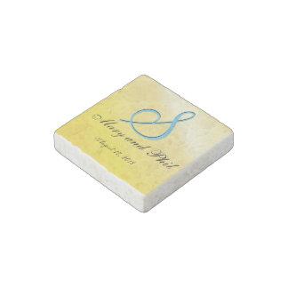 limón del monograma 3d imán de piedra