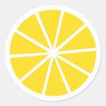 Limón Etiquetas Redondas