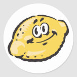 limón feliz lindo pegatina redonda