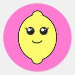 limón femenino pegatina redonda
