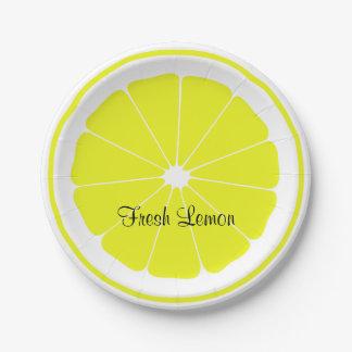 Limón fresco plato de papel de 7 pulgadas